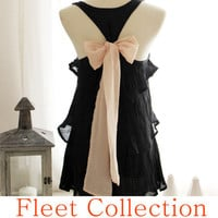 BLUSH AURA  Sleeveless Black Blouse with Pale by FleetCollection