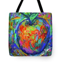 Apple Splash Tote Bag