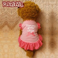 Princess Dog Cat Pet Dress Letter Printed Clothes Puppy