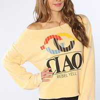Rebel Yell The Lounger Ciao Boyfriend Sweatshirt in Gold : Karmaloop.com - Global Concrete Culture