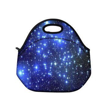 Stars Zipper Neoprene Lunch Bag Thermal Insulated Lunch Box Tote For Women Kids Food Bag Tote Cooler lunch bag LT-2368