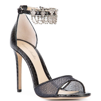 Monique Lhuillier Crystal Embellished Sandals - Farfetch