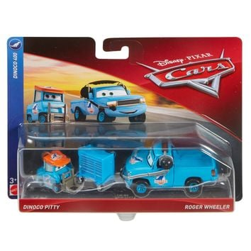 Cars 3 Diecast 1:55 Scale Movie Moments 2 pack- Dinoco Pitty Roger Wheeler