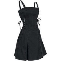 TRIPP RUFFLE GOTHIC DOLL PUNK EMO CORSET ROCKABILLY GOTH SEXY pin up 50s DRESS M