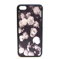Gray Roses Print Phone Case