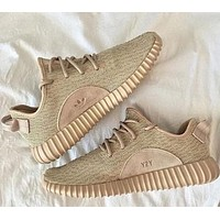 ADIDAS YEEZY classic men and women fashion breathable casual canvas sneakers Khaki