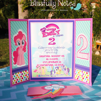 15 My Little Pony Birthday Invitation from BlissfullyNoted on