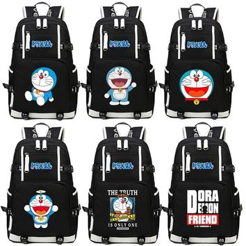 Japan anime Doraemon Printing Backpack School Bags Laptop Backpack Shoulders bag Student book Bag Computer Bag package