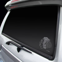 Chicago Blackhawks Chrome Window Graphic Decal