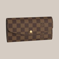 Emilie Wallet  Damier Ebene Canvas Small-Leather-Goods - Louis Vuitton
