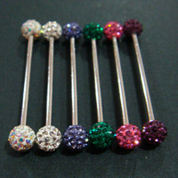 14g~33mm Long Industrial Bar Barbell Ear Ring Rings Body Piercing
