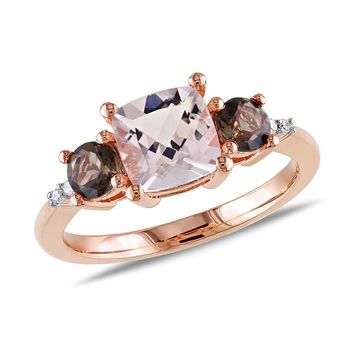 Morganite and Smokey Quartz Ring