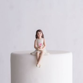 Preteen Girl Porcelain Figurine Wedding Cake Topper (Pack of 1)