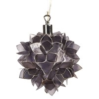 Water Lily Flower Hanging Lamp Small - Black - Clearance - chandeliers & hanging lights - lighting, lamps & chandeliers