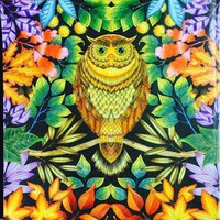 5D Diamond Painting Yellow and Green Owl