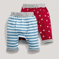 Baby Boy Mix And Match Two Pack Of Red Printed Leggings