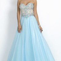 Long Strapless Sweetheart Ball Gown by Blush