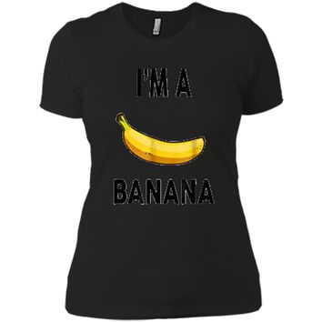 I'm a banana  - Halloween Banana Costume  Next Level Ladies Boyfriend Tee