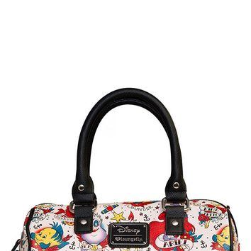Ariel Pebble Tattoo Crossbody Duffle Bag | Blame Betty