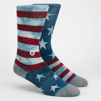 Stance Mix & Match Banner Boys Socks Red/White/Blue One Size For Women 25391894801