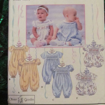 SALE Uncut 1994 Simplicity Sewing Pattern, 8951! Size 6-12-18 months, Infants/Toddlers/Kids/Children, Romper/One-Piece/Baby Jumper