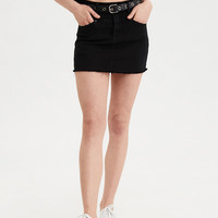 AE Denim X High-Waisted Denim Skirt, Black