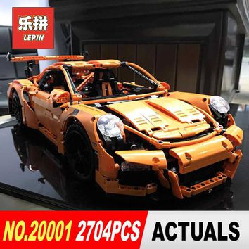 lepin 20001 20001b technic series 3368 race car bricks LegoINGl 42056 model building kits blocks toys for boys Christmas gift