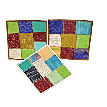 Mogul 3 Indian Pillow Cover Sari Pillowcases Patchwork Embroidered Cushion Cover Home Décor - Walmart.com