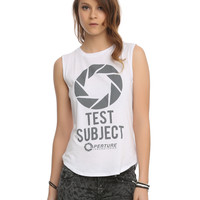 Portal Aperture Laboratories Logo Muscle Girls Top