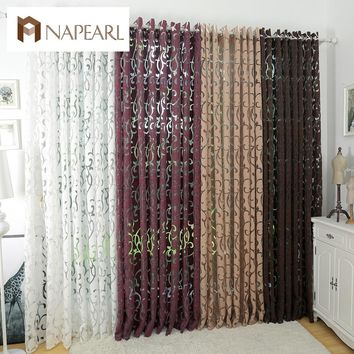 Luxury Semi-Blackout Jacquard Panel Curtains