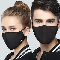 New 1 Pc Cotton Black Health Mothproof dustproof Anti-Dust Unisex Mouth-Muffle Face Masks Warm Winter Fashion Accessory Black