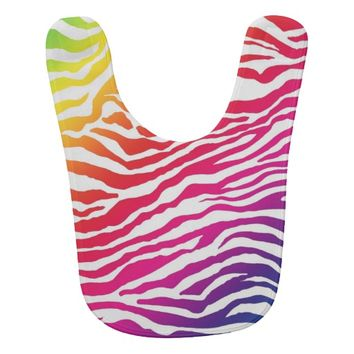 Rainbow Stripes Baby Bib