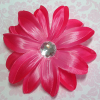 Flower Hair Clip, Girls Hair Clip, Lily Hair Clip, Girls Hair Accessories, Flower Clip, Hot Pink Tropical Lily Hair Clip
