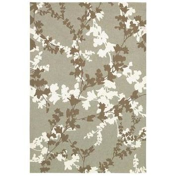 Couristan Covington Willow Branch Rug In Sage-Ivory