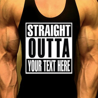 Straight Outta Compton Shirt, Mens Workout Tank, Mens Gym Shirt, Mens Gym Tank, Workout Clothes, Gym Shirts, Muscle Tee, Mens Fitness Tank