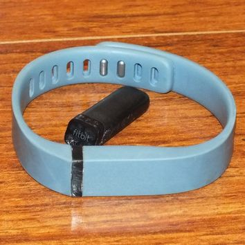 Fitbit Flex (Size Large) Blue Gray Bluetooth Wireless Activity + Sleep Tracker!