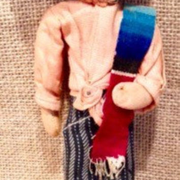Vintage gaucho man with sarape