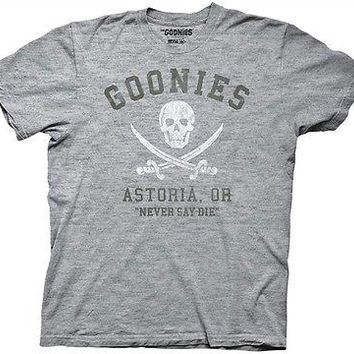 The Goonies Astoria Oregon Never Say Die Cotton Blend S-2XL Adult T Shirt