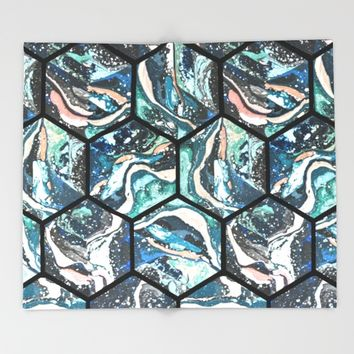 Abstract - Title- Pattern Throw Blanket by Salome