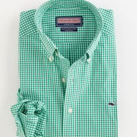 Men's Slim Fit Sport Shirts: Regatta Gingham- Whale Collection– Vineyard Vines