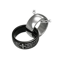 Stainless Steel 2tone Interlocking The Lords by UnisexySupplies
