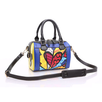 ROMERO BRITTO  New  Fashion Women Handbags Diagonal Small Bags Pillow Bags Shell Bag Ladies Shoulder Messenger Bags