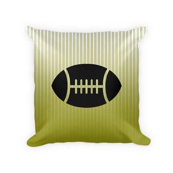 Football Children's Woven Cotton Throw Pillow