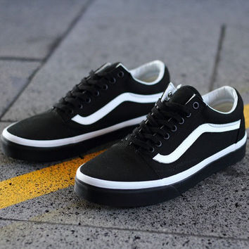 Trendsetter Vans Classic Old Skool Canvas Flat Sneakers Sport Shoes