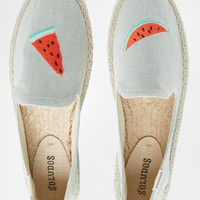 Soludos Watermelon Slices Espadrille Flat Shoes