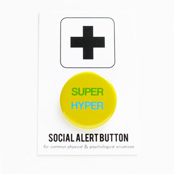 SUPER HYPER Social Alert Button