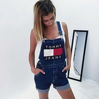 ONETOW Tommy Jeans Baggy jeans jeans suspenders pants women