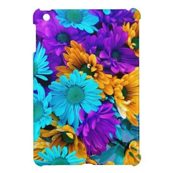 Purple Gold N Turquoise Daisies iPad Mini Cover from Zazzle.com