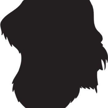 German Wirehaired Pointer Silhouette Dog Puppy Breed Long Die Cut Vinyl Transfer Decal Sticker