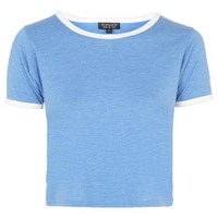 Contrast Trim Tee - Bright Blue
